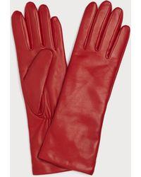 L.K.Bennett - Ysabeau Red Leather Gloves - Lyst