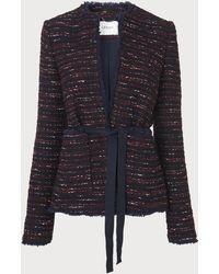 L.K.Bennett - Elaine Wine Tweed Jacket - Lyst