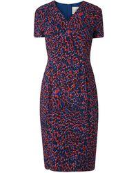 L.K.Bennett | Bertie Blue Leopard Print Dress | Lyst