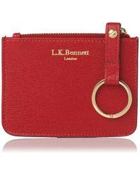L.K.Bennett - Kendra Red Leather Purse - Lyst