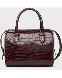 L.K.Bennett - Melanie Wine Croc Effect Shoulder Bag - Lyst