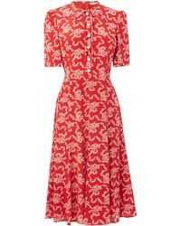 L.K.Bennett - Montana Red Dress - Lyst