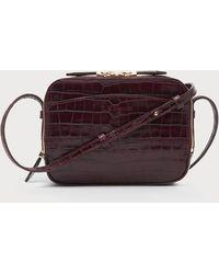 L.K.Bennett - Mariel Bordeaux Croc Shoulder Bag - Lyst