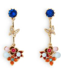 L.K.Bennett - Maddie Crystal Pearl Earrings - Lyst