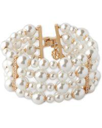 L.K.Bennett - Marina Ivory Pearl Gold Bracelet - Lyst