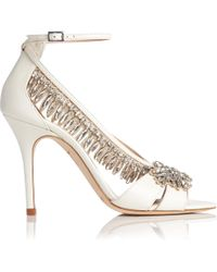 a7e6acb7573 Opening Ceremony Dahlia Leather Metallic Heel Pumps - Lyst