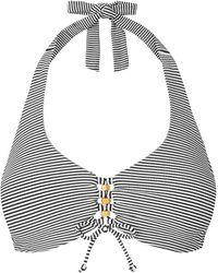 L.K.Bennett - Claudine Stripe Halter Underwired Bikini Top - Lyst