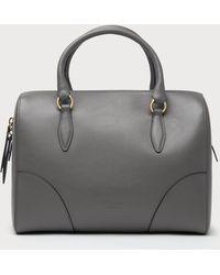 L.K.Bennett - Melanie Grey Leather Shoulder Bag - Lyst
