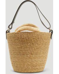 Muuñ - Pool 32 Faux Fur Basket Bag In Ecru - Lyst