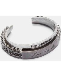 Saint Laurent | Name Tag Bracelet Set In Silver | Lyst