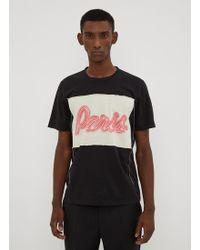Maison Margiela - Paris Slogan Colour-block T-shirt - Lyst