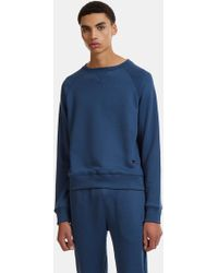 Russell Athletic - Raglan Crew Neck Sweater In Navy - Lyst