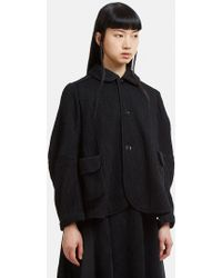 Renli Su - Round Collar Swing Jacket In Black - Lyst