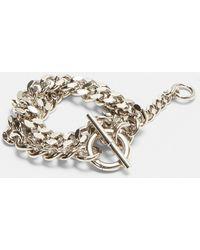 Jil Sander - Double Curb Chain Bracelet In Silver - Lyst