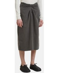 Cosmic Wonder - Wrap Cropped Trousers In Grey - Lyst