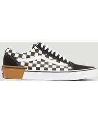 9f8721fea6a Vans - Gum Block Checker Authentic Lace-up Trainers In Black - Lyst