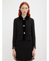 Miu Miu - Cady And Velvet Jacket - Lyst