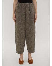 Lauren Manoogian - Knitweave Track Trousers In Grey - Lyst