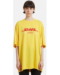 Vetements - Double Dhl T-shirt In Yellow - Lyst