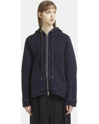 Marni - Contrast Stitch Hooded Jumper In Navy - Lyst