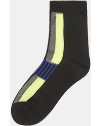 Issey Miyake - Colour Block Socks In Yellow - Lyst