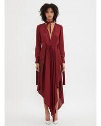 Off-White c/o Virgil Abloh - Foulard Dress In Burgundy - Lyst