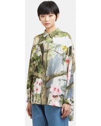 Anntian - Print Button Up Blouse - Lyst