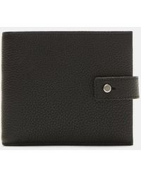 Saint Laurent - Milo Grained Wallet In Black - Lyst