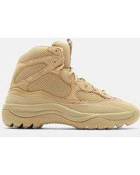 Yeezy - Mesh Desert Boots In Taupe - Lyst