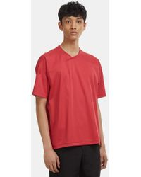 Mackintosh 0002 - V-neck T-shirt In Red - Lyst