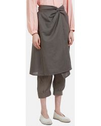 Cosmic Wonder - Folk Skirt Trousers In Grey - Lyst