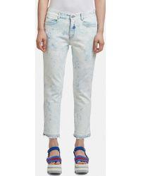 Stella McCartney - Bleached Skinny Boyfriend Jeans In Blue - Lyst