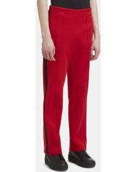 Maison Margiela - Stripe Track Trousers In Red - Lyst