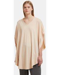 Cosmic Wonder - Circular Shirt Dress In Pale Peach - Lyst