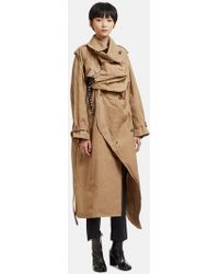 Facetasm - Structured Raincoat In Beige - Lyst