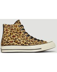 Converse - High Chuck Taylor 1970s Animal Kingdom All Star Trainers In Brown - Lyst