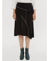 Marni - Stitched Deconstructed Skirt In Black - Lyst
