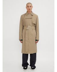 JW Anderson - Wadded Trench Coat In Beige - Lyst