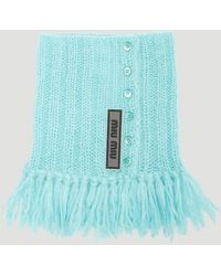 Miu Miu - Knit Collar In Blue - Lyst