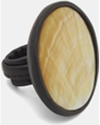 Monies - Mother Of Pearl Saucer Ring In White - Lyst