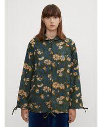 STORY mfg. - Botanical Camouflage Track Jacket In Blue - Lyst