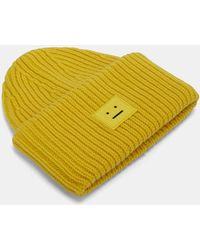 Acne Studios - Women's Pansy Wool Knit Hat In Yellow - Lyst
