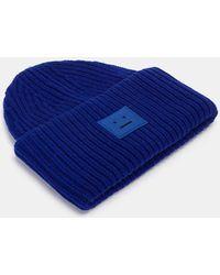 Acne Studios - Women's Pansy Wool Knit Hat In Blue - Lyst
