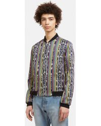 Saint Laurent - Teddy Reversible Pattern Jacket In Black - Lyst