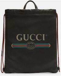Gucci - Print Zaino Bag In Black - Lyst