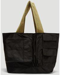 Raf Simons - Big Shoulder Bag In Black - Lyst