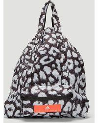 adidas By Stella McCartney - Leopard Print Gym Sack In Black - Lyst