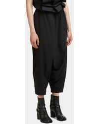132 5. Issey Miyake - Seamless Wrap Dropped Crotch Trousers In Black - Lyst