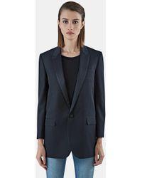 Saint Laurent - Long Wool Tuxedo Jacket  - Lyst
