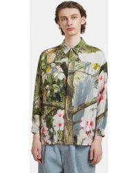 Anntian - Floral Print Step Hem Shirt In Multi - Lyst